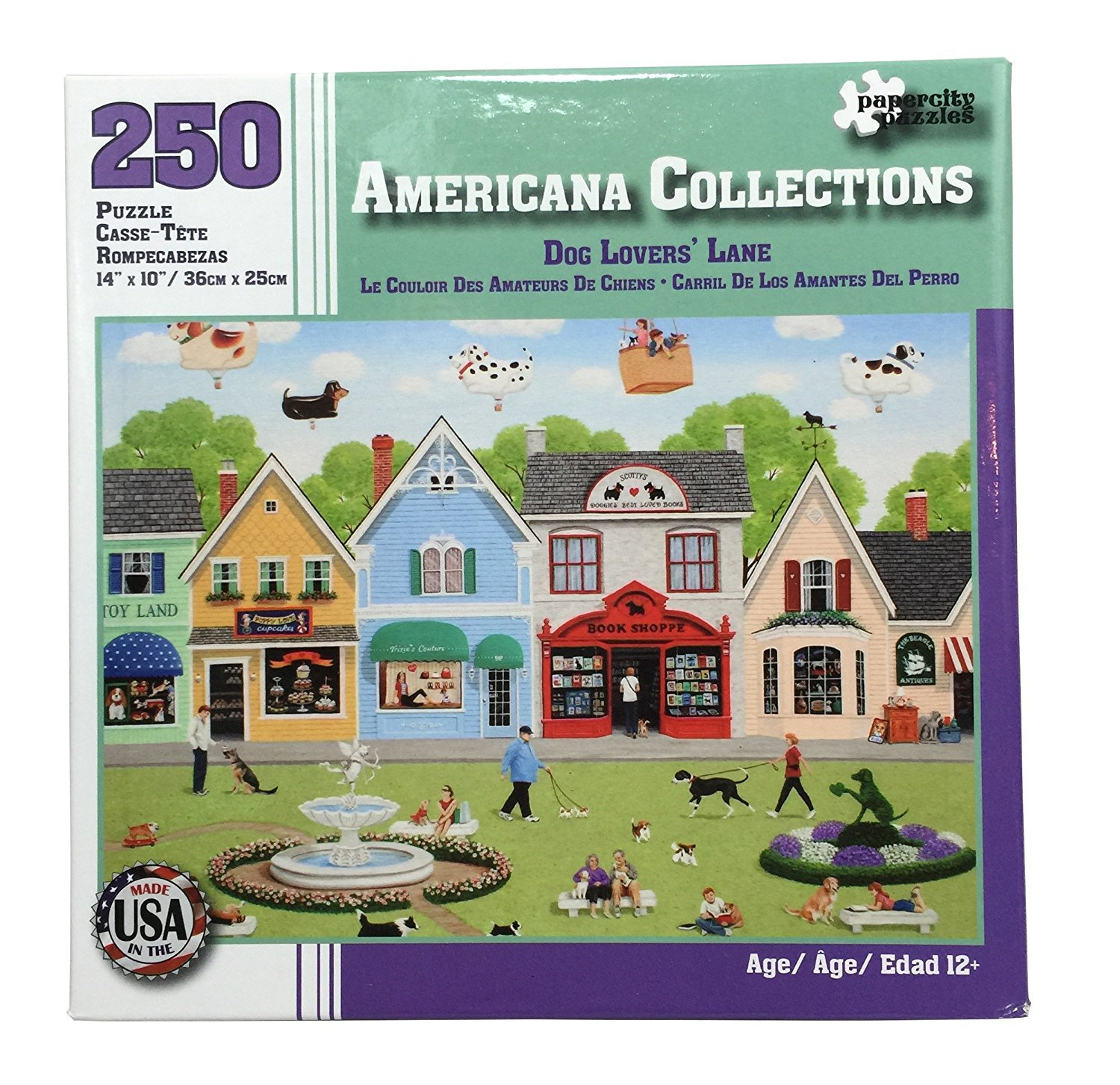 Americana Collections 250pc. Puzzle Dog Lovers Lane