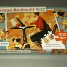 Normal Rockwell Jigsaw Puzzle - Boy Reading Sears Catalogue - 500 Pieces
