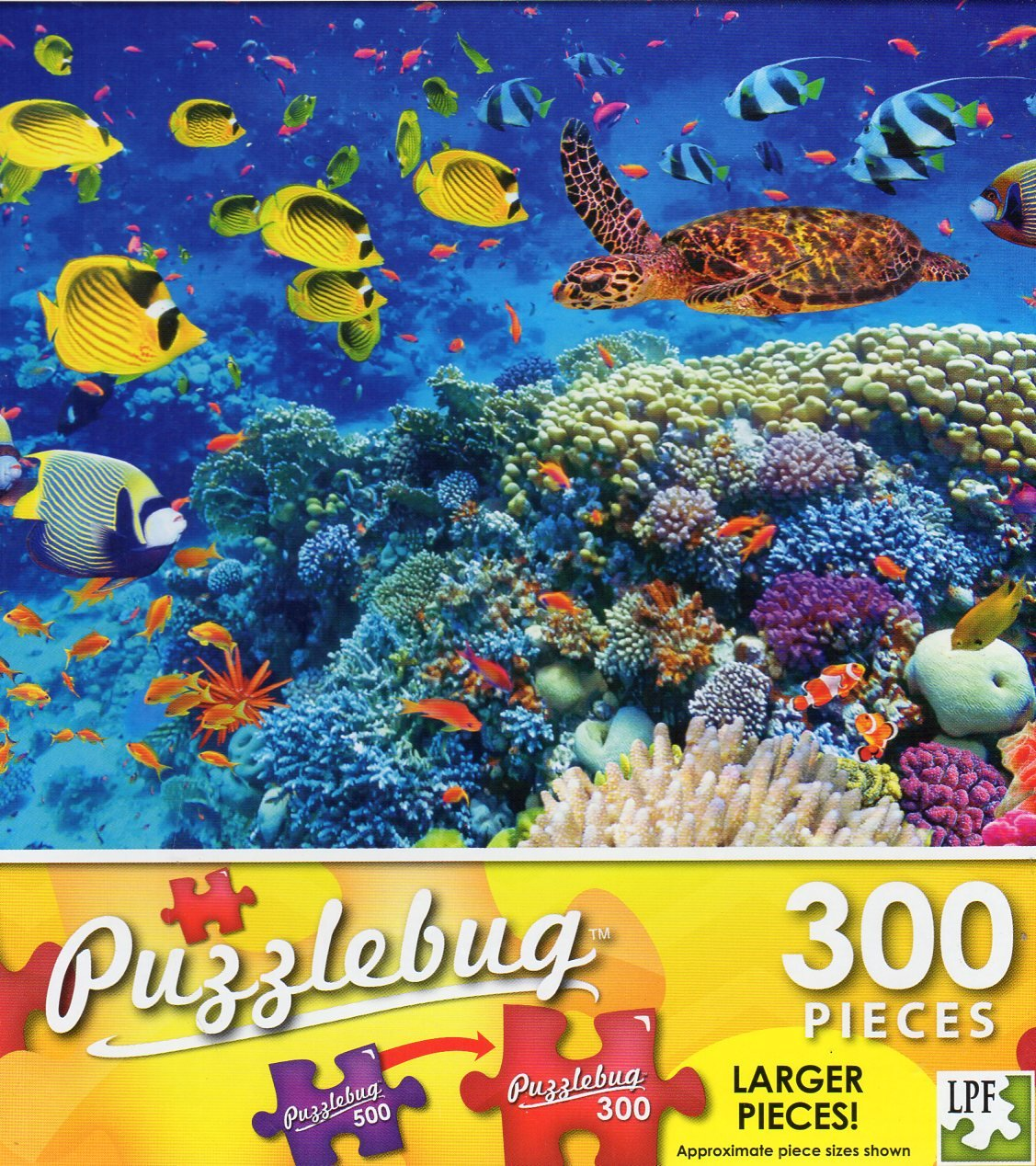 Tropical Fish and Turtle in the Red Sea - Puzzlebug 300 Piece Jigsaw Puzzle