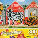 Fence made of recycled traffic signs - Puzzlebug 300 Piece Jigsaw Puzzle