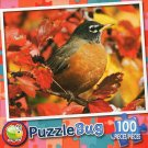 Red Robin  - Puzzlebug 100 Piece Jigsaw Puzzle