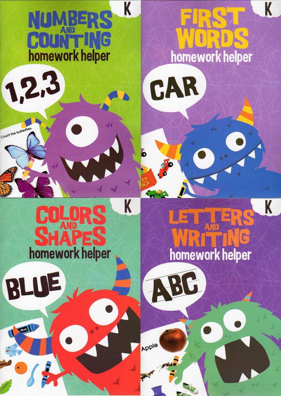 Homework Helper Educational Workbooks - Kindergarten - Set of 4 Books