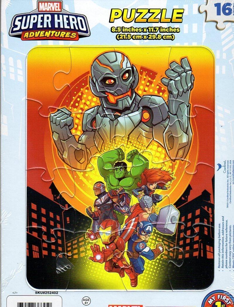 Marvel Super Hero Adventures - 16 Pieces Jigsaw Puzzle - v1