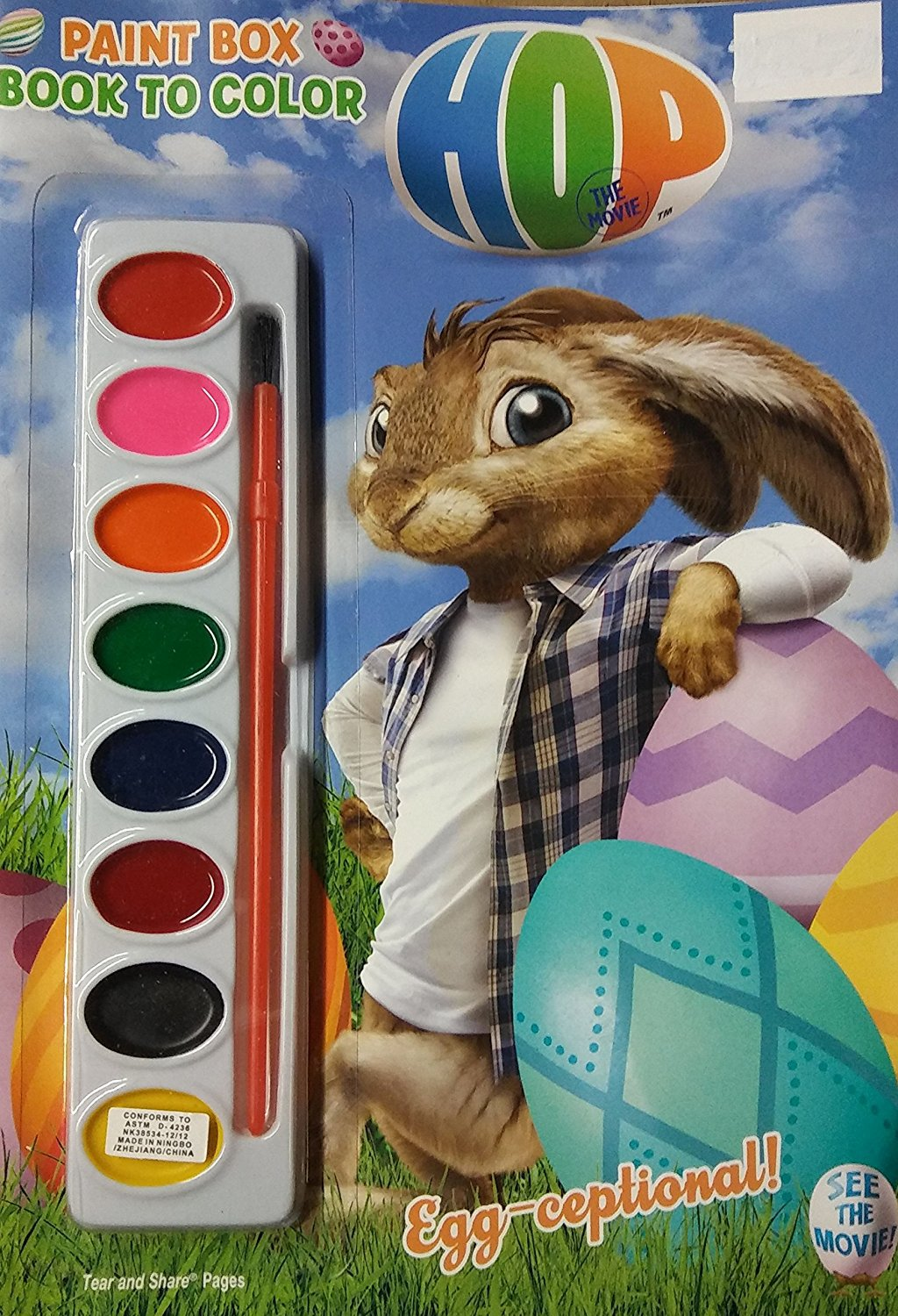 Paint Box Book to Color Hop - Egg-Ceptional - Coloring & Activity Book - v2