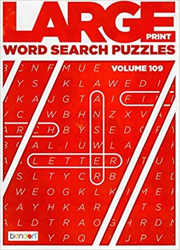 Large Print Word Search - (2017) - Vol.109. puzzle book
