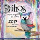 Buhos Connie Haley Owls Spanish 2017 16 Month Wall Calendar 12x12
