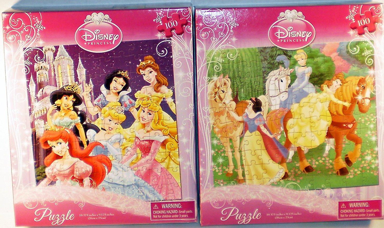 2-Pack Disney Princess 100-Piece Puzzles