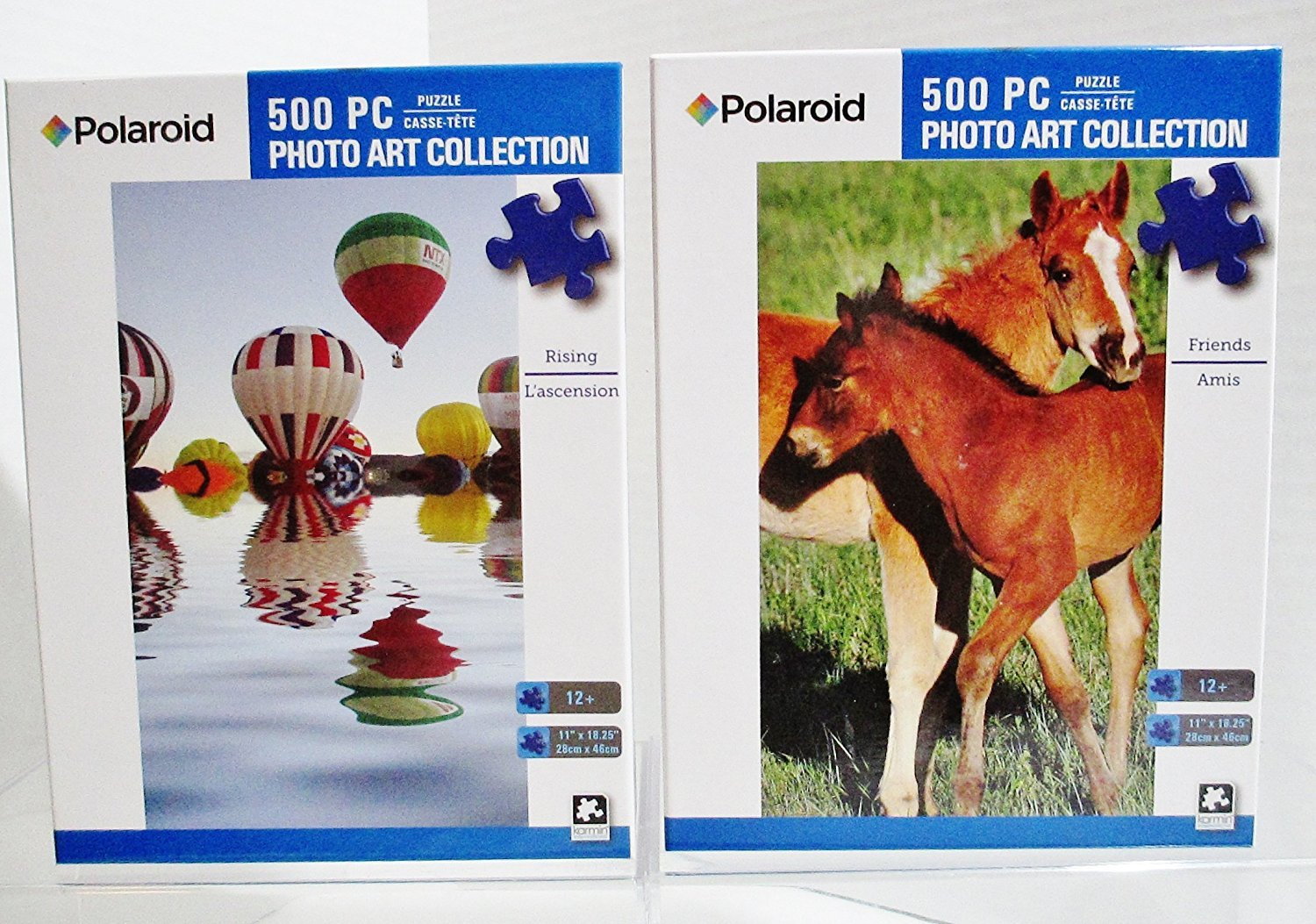 2 Polaroid Art Collection 500 Piece Jigsaw Puzzles Pony Friends Balloons RisingMarvel