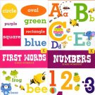 Kindergarten Workbooks With Sticker Sheet - Numbers, Colors & Shapes, Letters & First Words - v3