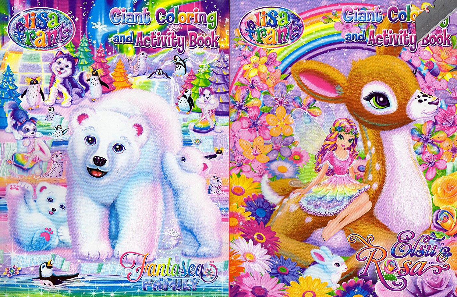 Lisa Frank Coloring And Activity Book Set (2 Books - 96 Pages) - v2