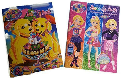 Lisa Frank Paper Dolls and Coloring Activity Book Bundle - 2 Items by Lisa Frank