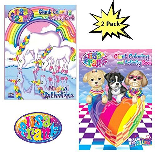 Lisa Frank Coloring And Activity Book Set (2 Books - 96 Pages)