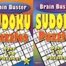 Large Print Sudoku Puzzle - Brain Buster - All New Puzzles - (2016) - Vol.11-12 (2 Volumes/Books)
