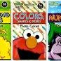 Sesame Street Flash Cards 3 Pack Numbers, Colors, Beginning Words
