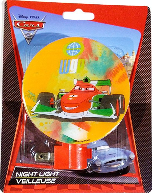 Disney Pixar Cars 2 Night Light World Grand Prix (WGP) Series Francesco Standup #1