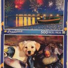 2 Puzzlebug 500 Piece : Firework Display at Baltic Sea~ Labrador Puppy Playing in Duck Decoys