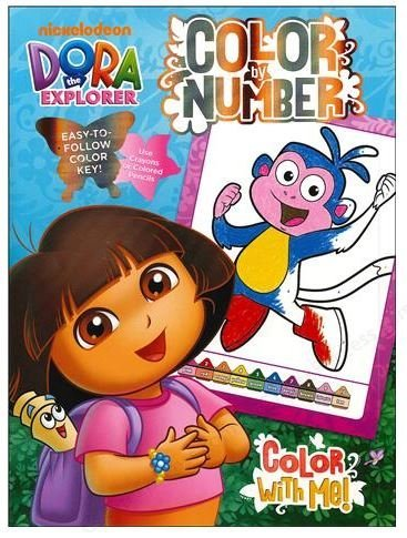 Nickelodeon Dora The Explorer: Color By Number Book to Color
