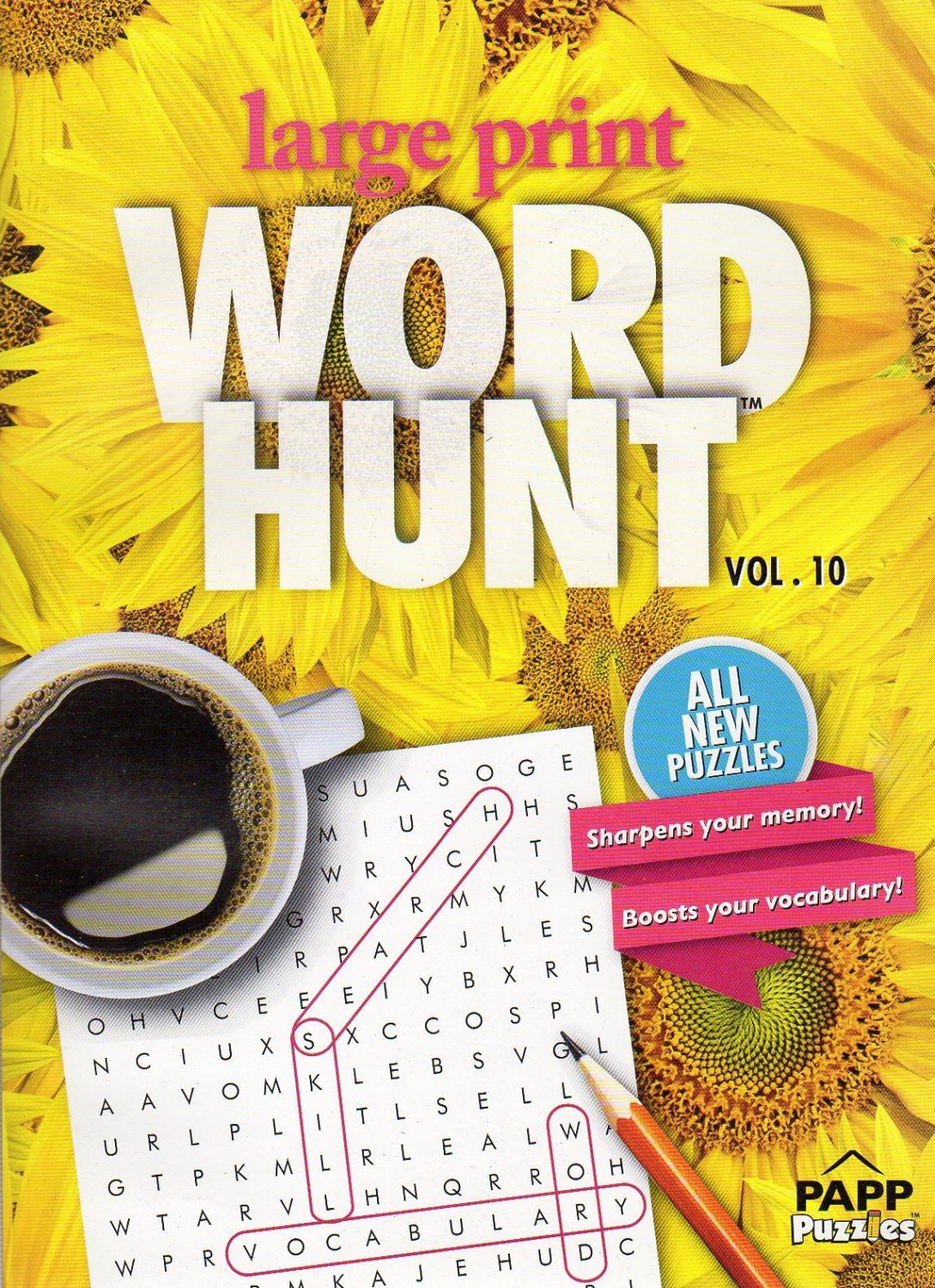 Large Print Word Hunt - All New Puzzles - (2016) - Vol.10