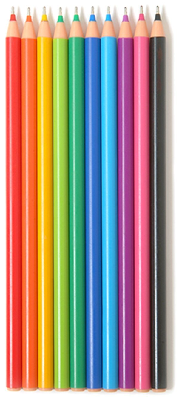 Promarx Rainbow Colored Ink Pens, Assorted Fashion Colors, 10 Count (BP63-AR1C10-48)