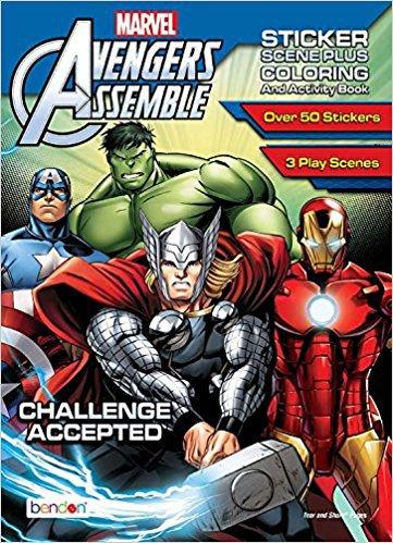 Avengers Assemble Sticker Scene Plus Coloring & Activity Book