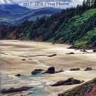 Scenic Landscapes - 2017-2018 2 Year Pocket Planner / Calendar / Organizer - Monthly Page Format