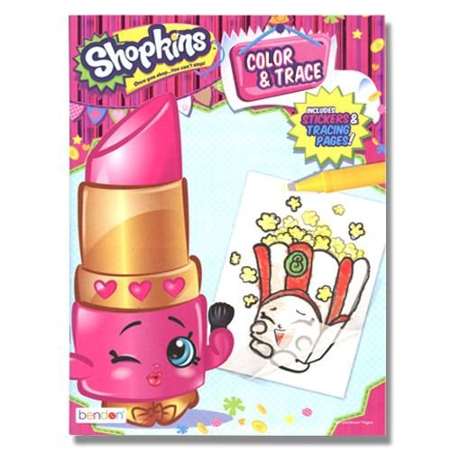 Shopkins 48pg Color and Trace Activity Book