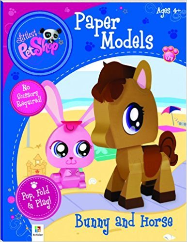 Littlest Pet Shop Bunny and Horse (Paper Model series Activity Book