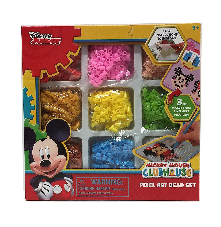 Disney Junior Mickey Mouse Clubhouse Pixel Art Bead Set - 3 Piece Mickey Emoji Art