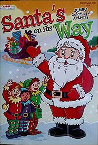 Santa's on His Way Jumbo Coloring & Activity Book