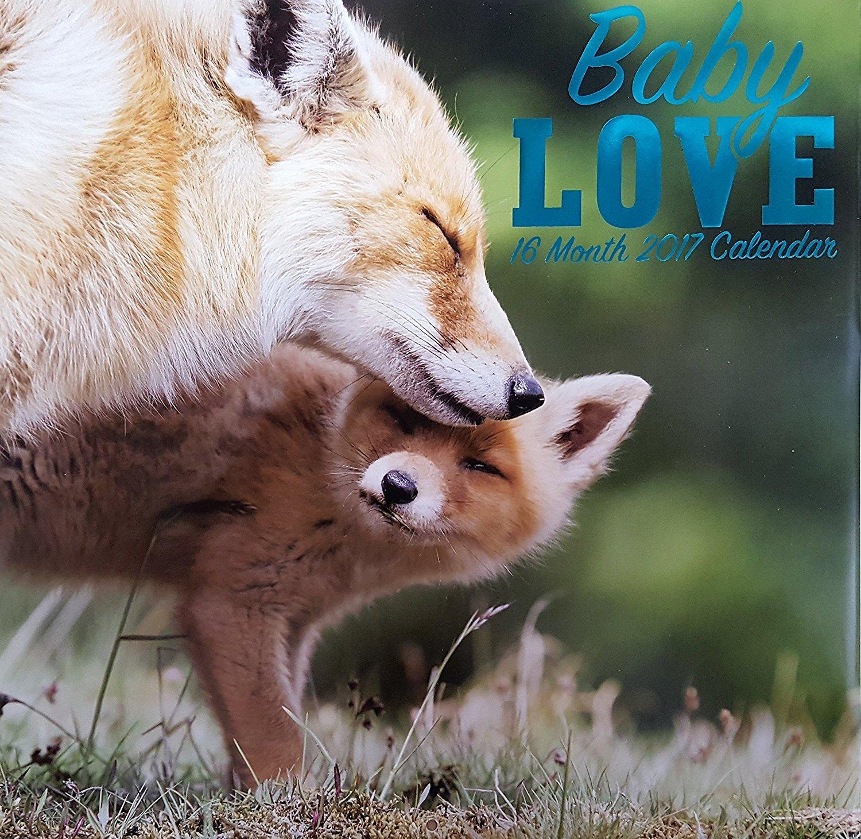 Animals Baby Love 2017 Wall Calendar (16 Months)