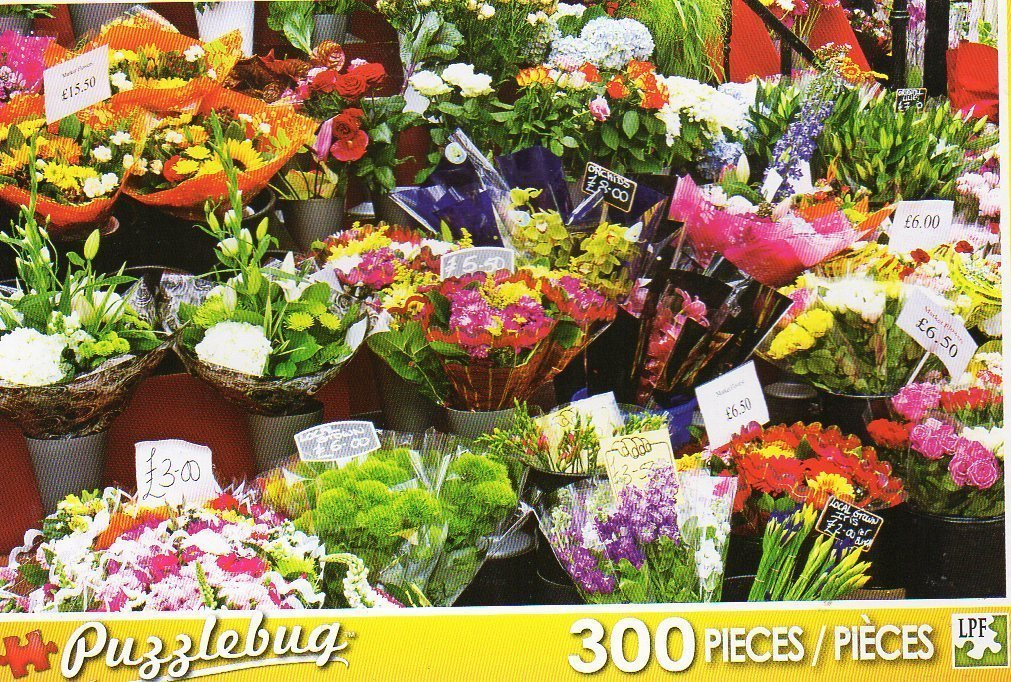 PuzzleBug 300 Piece Puzzle ~ Colorful Market Flowers