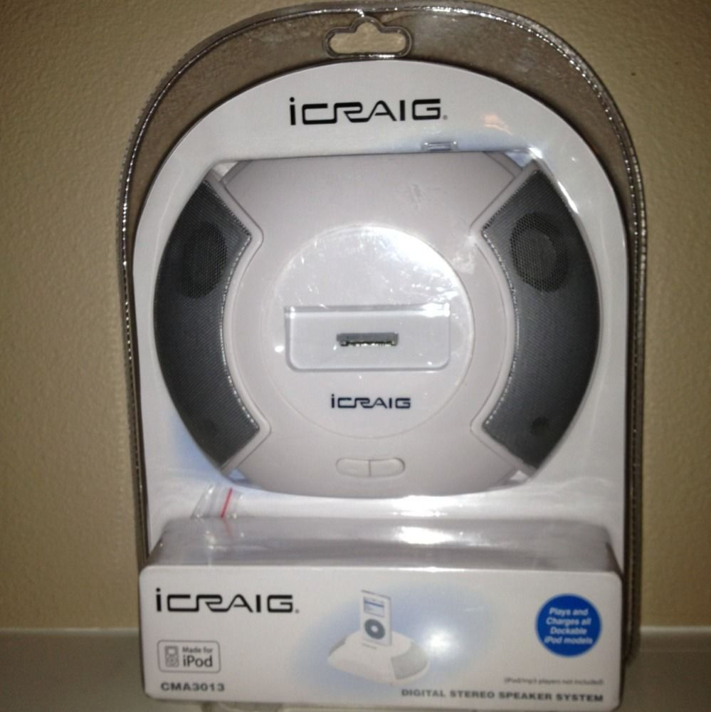 IPOD SPEAKER SYSTEM WITH UNIVERSAL DOCK