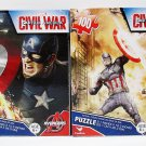 2 Jigsaw Puzzles - 100 Pieces Each - Captain America - Civil War