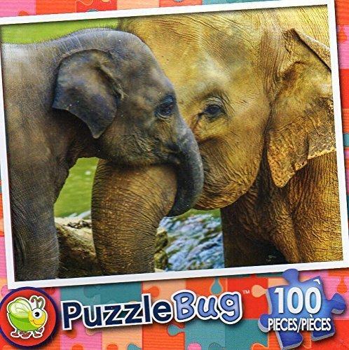 PuzzleBug 100 Piece Puzzle ~ Elephant Cuddle