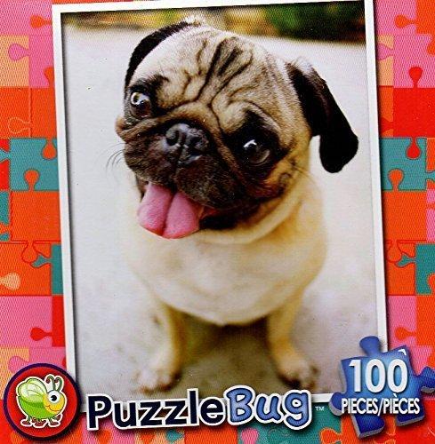 PuzzleBug 100 Piece Puzzle ~ Happy Pug Puppy