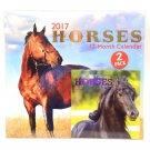 "2017 Calendar Horses 12"" x 12"" With Mini Calendar"
