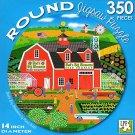 Bud's Big Blossoms - 350 Piece Round Jigsaw Puzzle