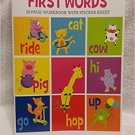 First Words-32 page workbook w/sticker sheet-Kindergarten
