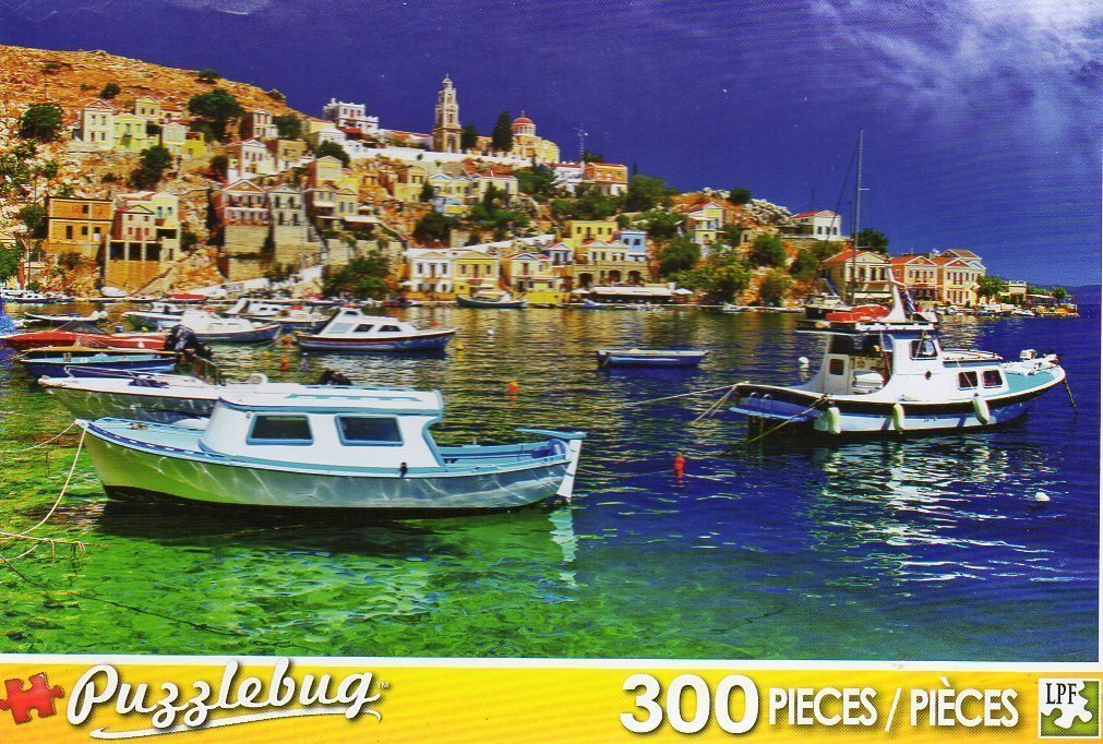 PuzzleBug 300 Piece Puzzle ~ Symi Island, Dodecannes, Greese