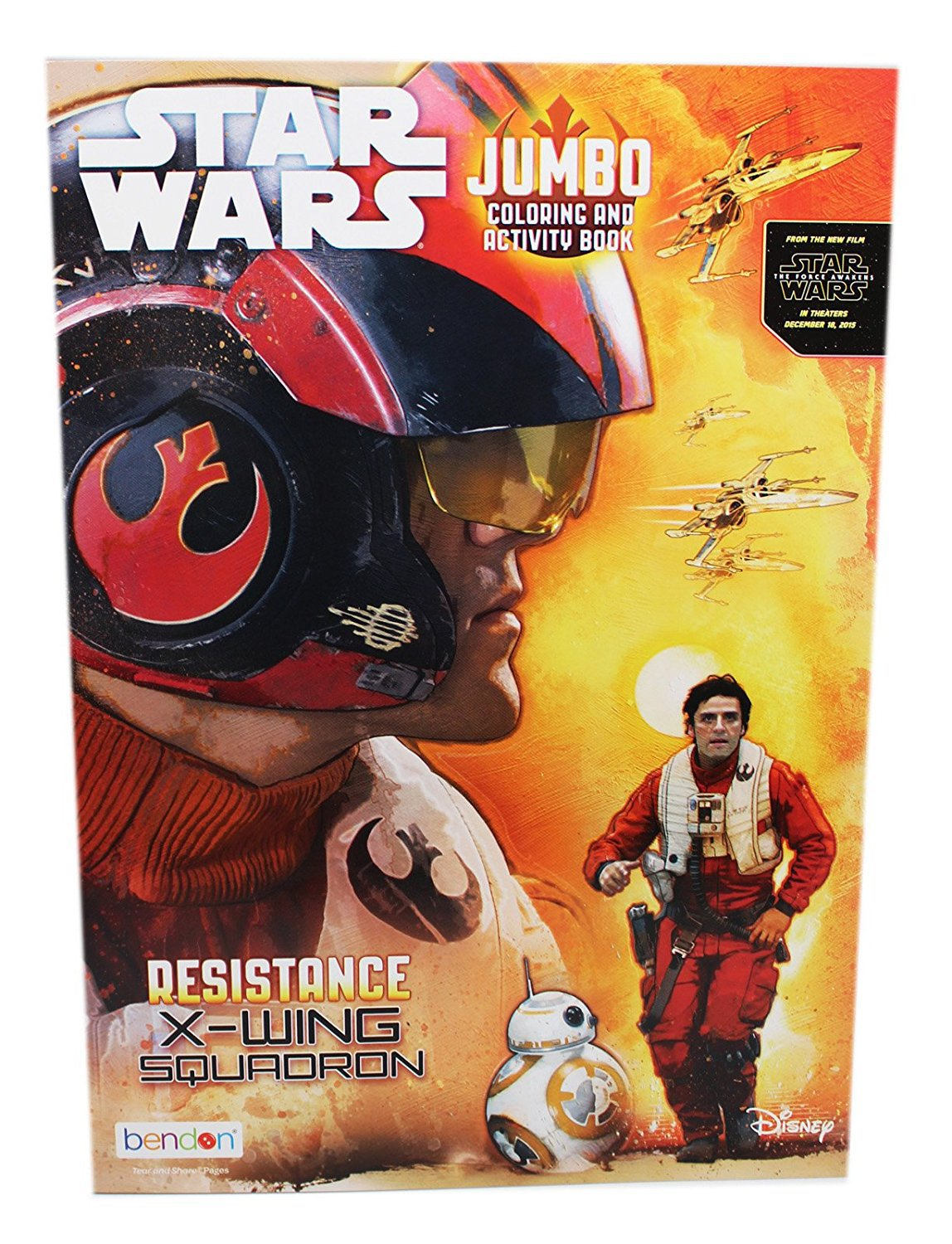 Star Wars Resistance X-Wing Squadron Jumbo Coloring and Activity Book
