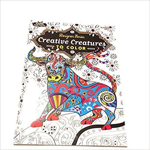 Designer Series Creative Creatures to Color Coloring Book