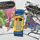 Coloring Book: Designs to Enchant and Creative Creatures to Color