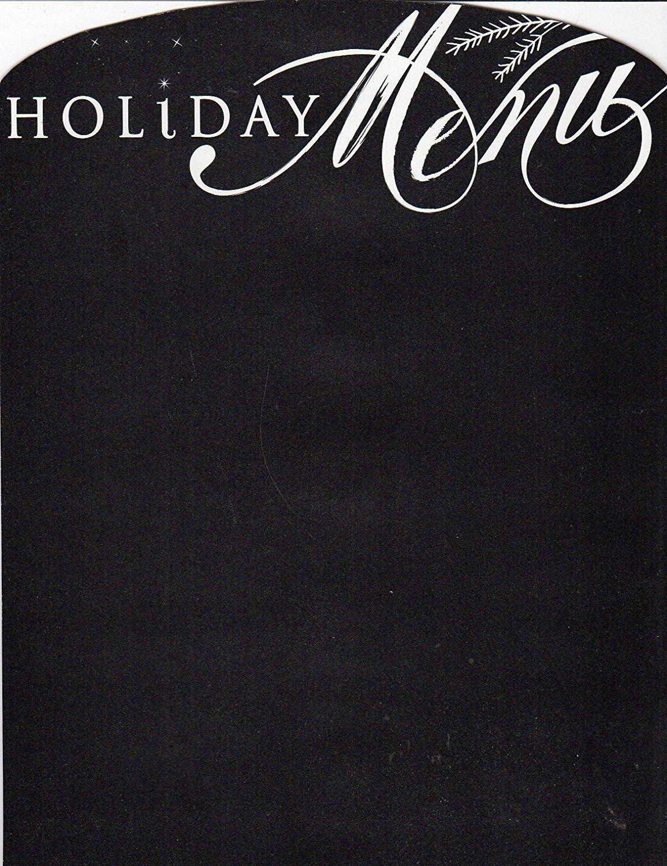 Holiday (Christmas) Menu - Magnetic Chalkboard Organizer (Full sheet Magnetic)