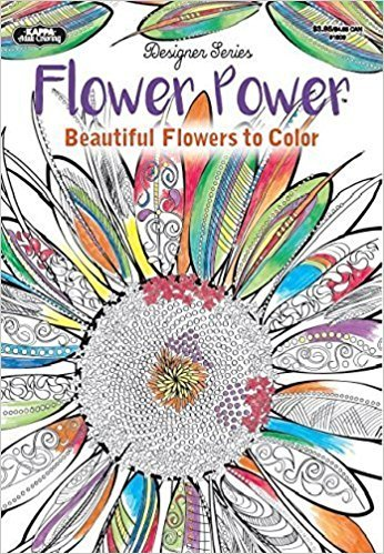 Adult Coloring - Designer Series - Flower Power Coloring Book