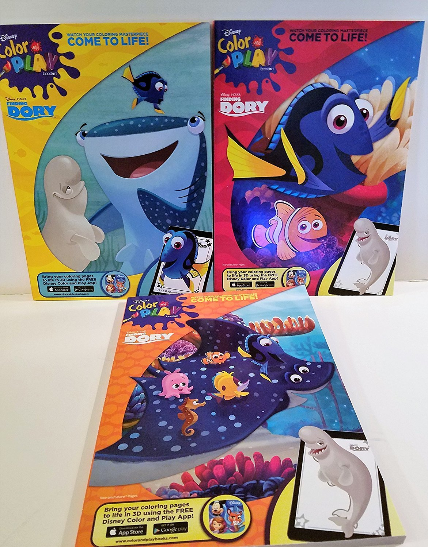 Disney Color and Play Activity Book Bundle