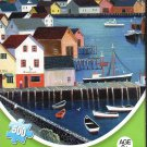 Sailboat Village by Steve Klein - 500 Piece Jigsaw Art Puzzle