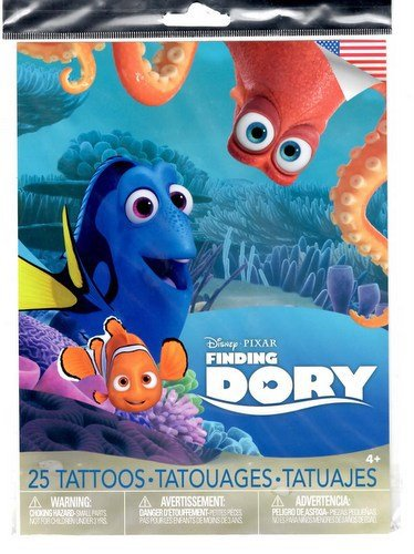 Disney Pixar Finding Dory Temporary Tattoos for Kids 25 Count