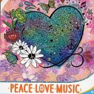 Savvi Peace Love Music - Temporary Tattoos - 38 Tattoos By Savvi