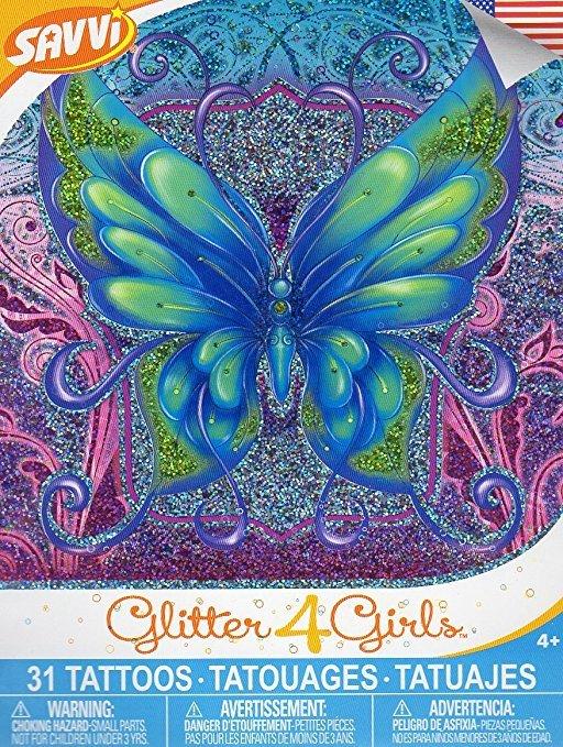 Savvi Glitter 4 Girls Tattoos - Glitter Temporary Tattoos - 31 Tattoos By Savvi