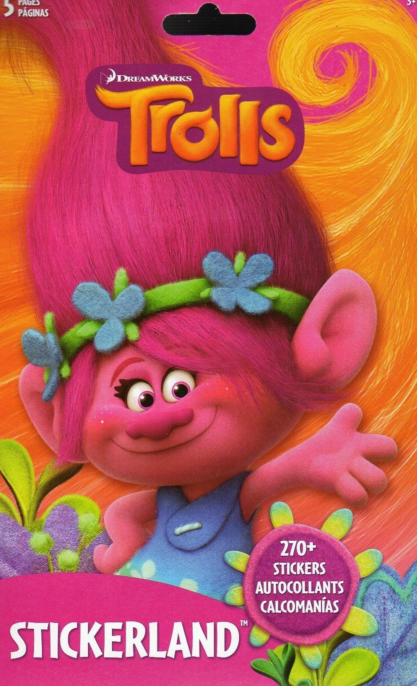 Dreamworks Trolls Stickers Book - 270+ Stickers